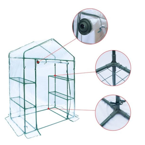 Transparent Walk-In Greenhouse