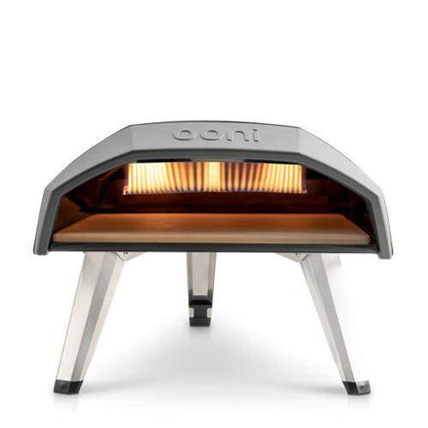 Image of Ooni Koda portable propane pizza oven front view wall of flame