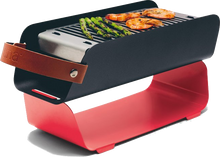Una Grill - Portable Charcoal Grill - Red