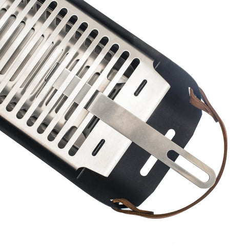 Image of Una Grill - Portable Charcoal Grill - Strawberry Red