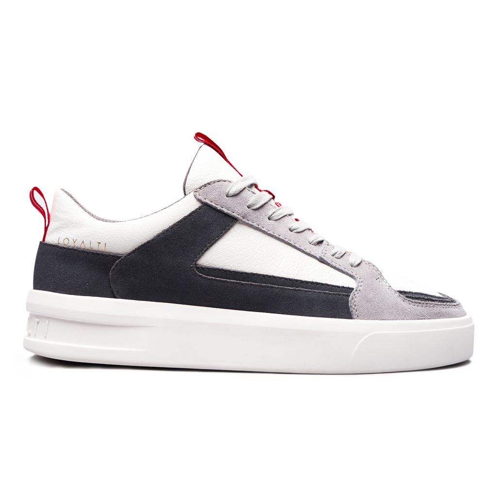 Milan Trainer - White / Grey / Red