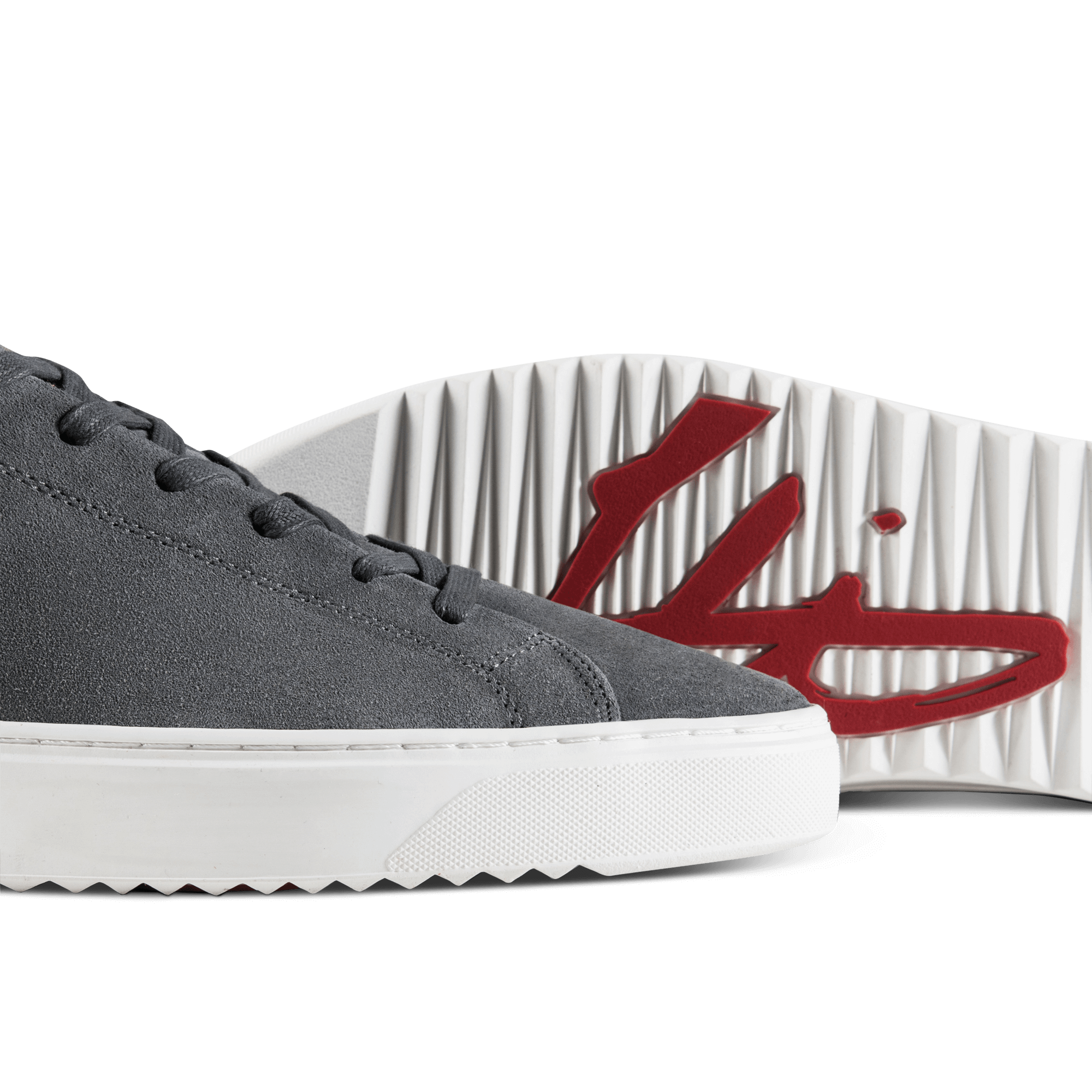 Patriot Cup Suede Trainer - Grey / Navy