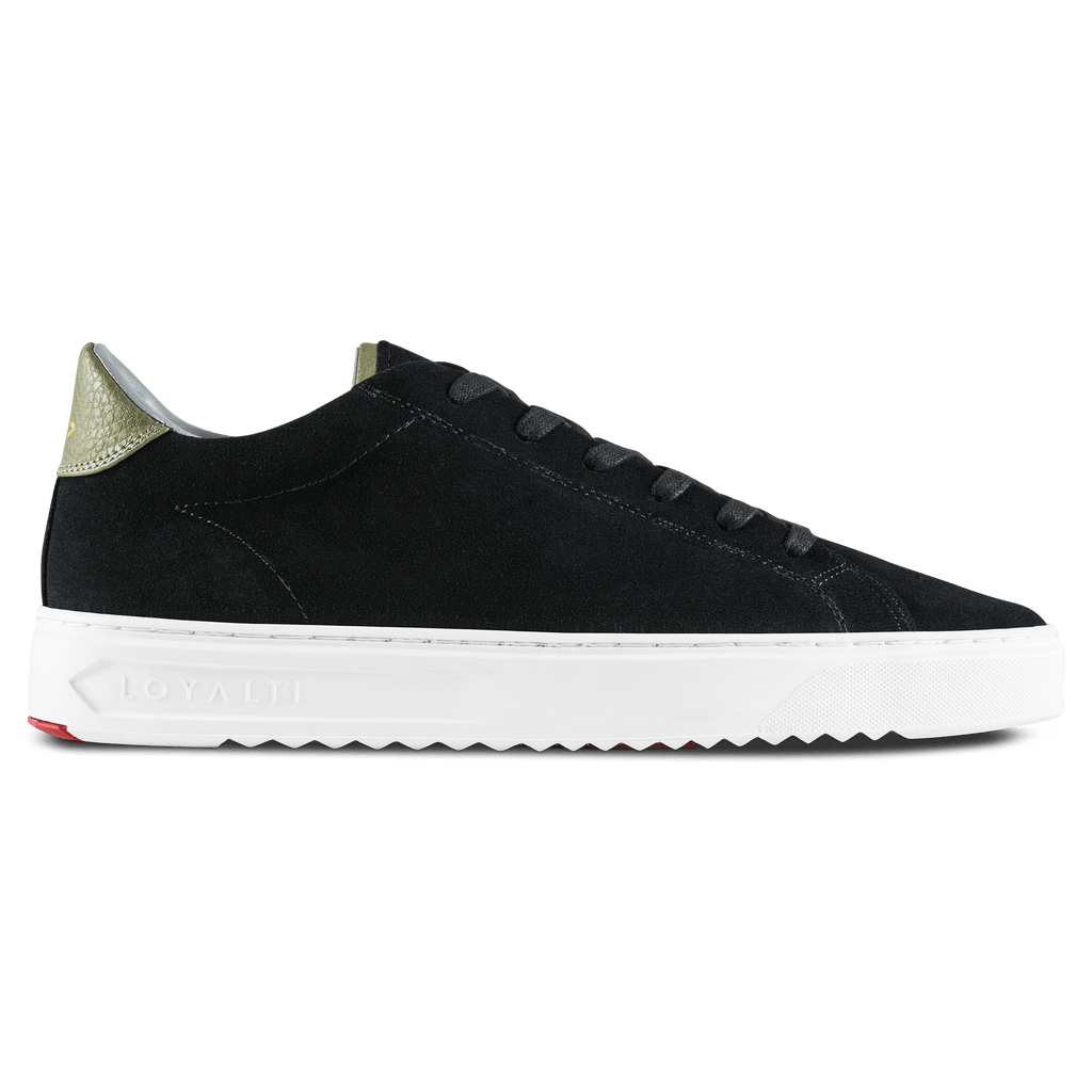 Patriot Cup Suede Trainer - Black / Khaki
