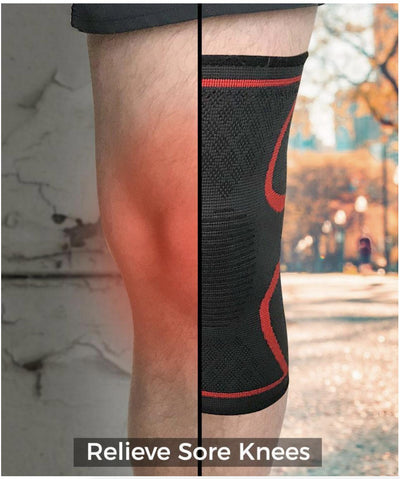 MyoFlow™ Non-Slip Knee Compression Sleeve-1 Pair (2 Sleeves)-Elbow & Knee Pads-InspiredBeing