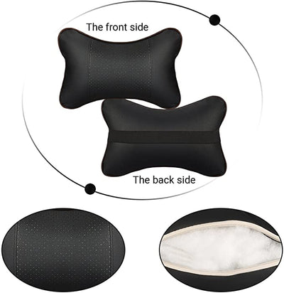 Car Headrest Pillow , Car Neck Support Pillow With Headrest Strap