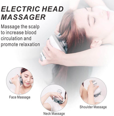Scalp Massager, Electric Scalp Massager For Hair Growth & Stress Relief