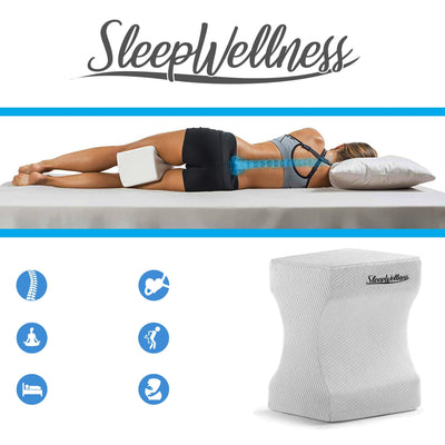 SleepWellness™ Orthopedic Memory Foam Hip Alignment Knee Pillow-Decorative Pillows-InspiredBeing