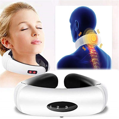 Electric Neck Massager, Electric Pulse Back And Neck Massager
