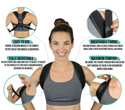 PostureFix™ Posture Corrector (Adjustable For All Sizes)-Braces & Supports-InspiredBeing