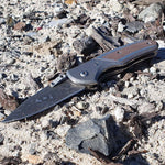 Damascus Style Stainless Steel Folding Knife