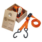 1.5m Trekking Ratchet Tie down with storage solution