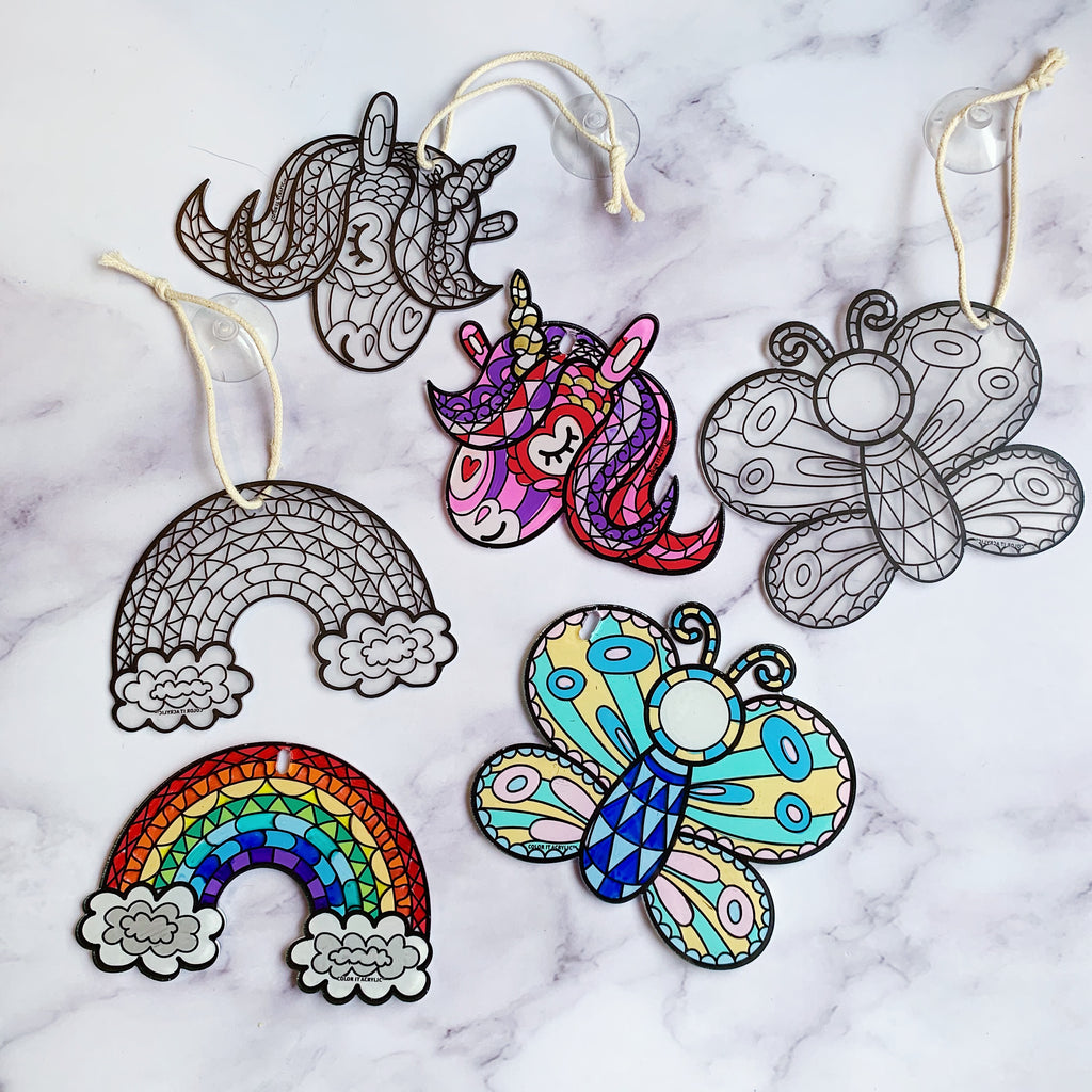 Unicorn, Rainbow, Butterfly Suncatchers