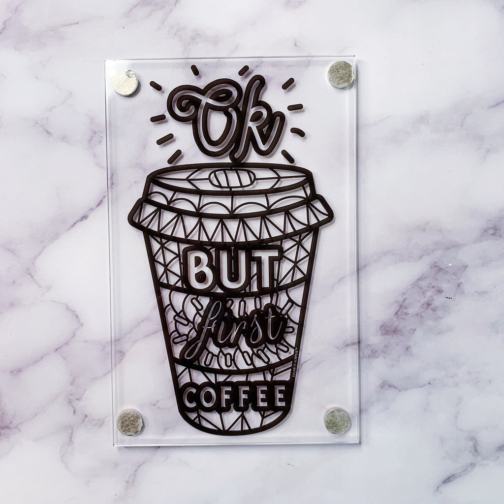 """But First Coffee"" Magnet"