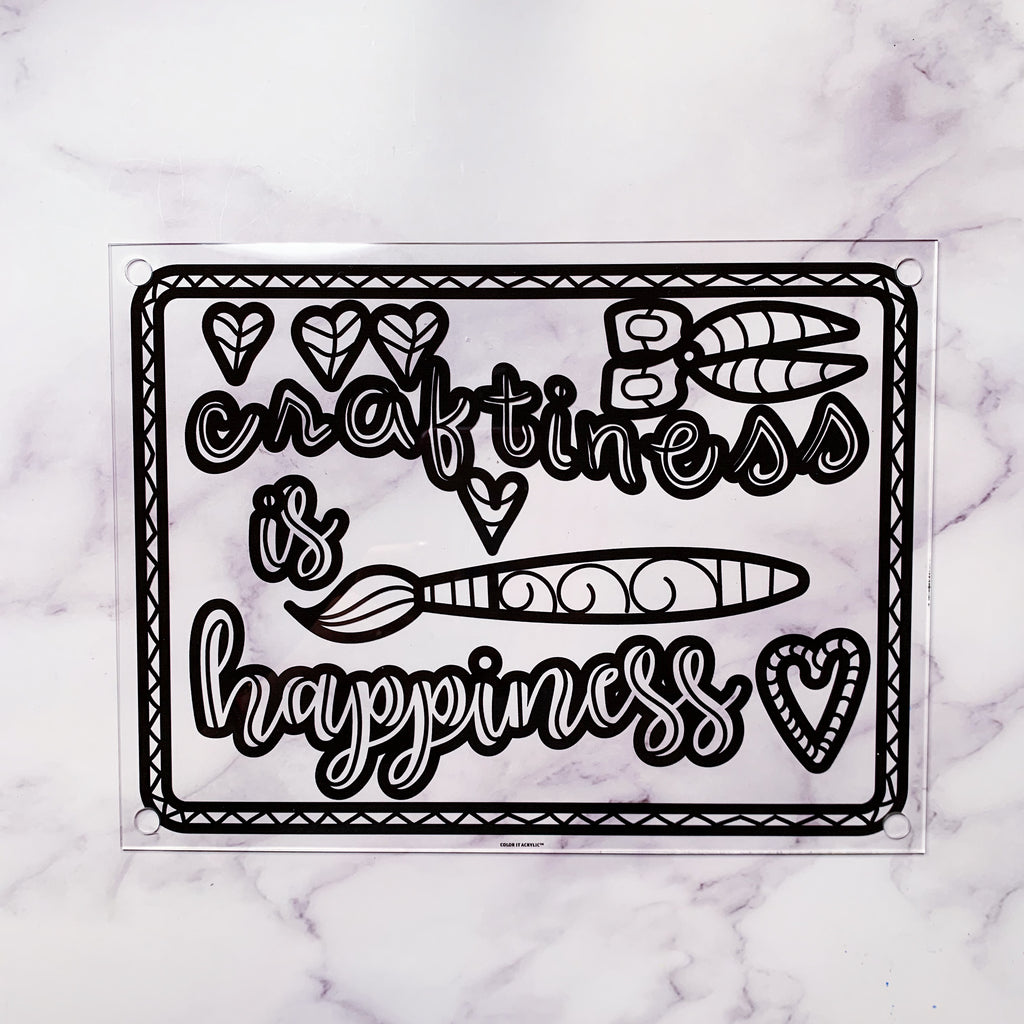 """Craftiness is Happiness"" Wall Art"