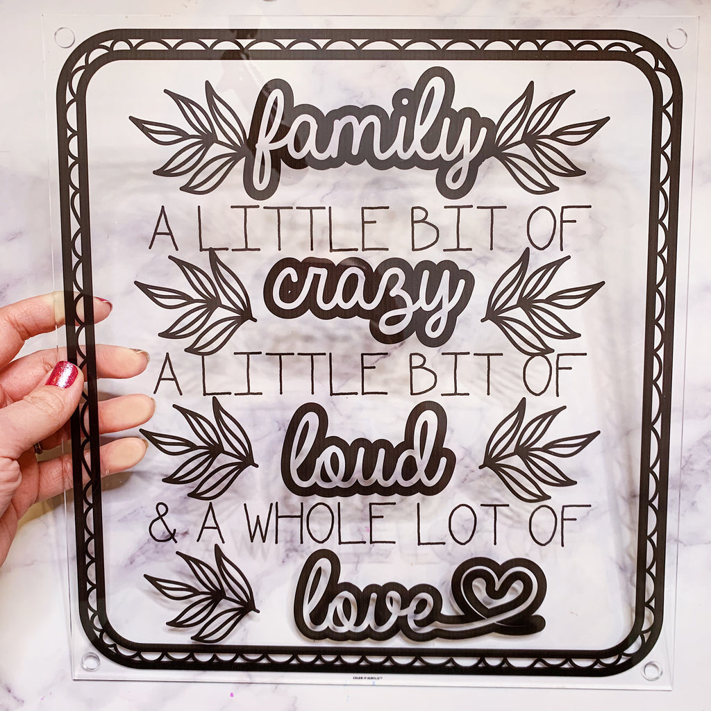 """Family a Little Bit of Crazy"" Wall Art"