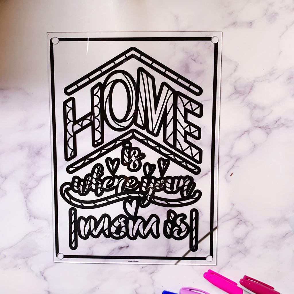 """Home is Where Mom Is"" Wall Art"