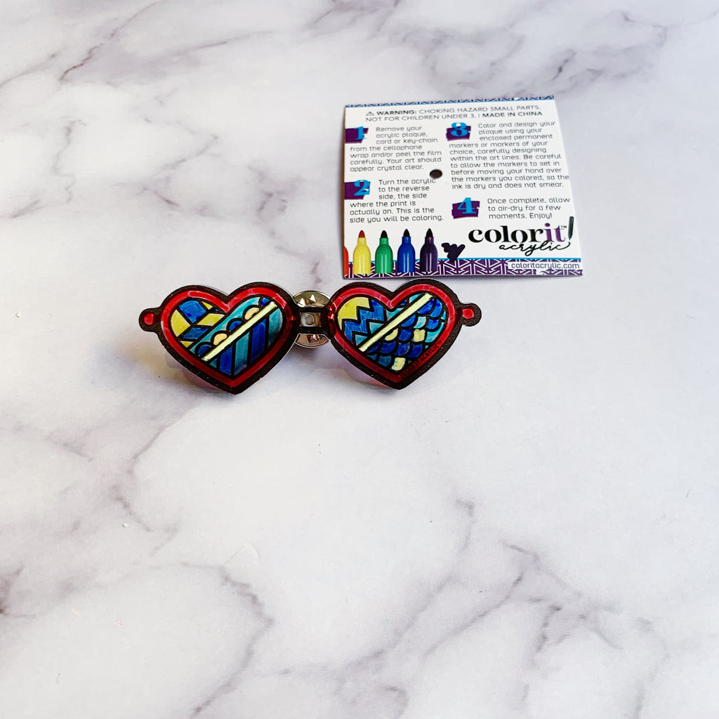 Heart Sunglasses Pin