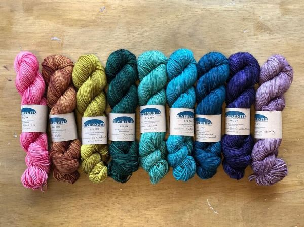 New hand-dyed yarn from RiverKnits!