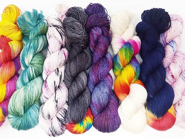 Knitting inspiration for Knit the Bed hand-dyed yarn!