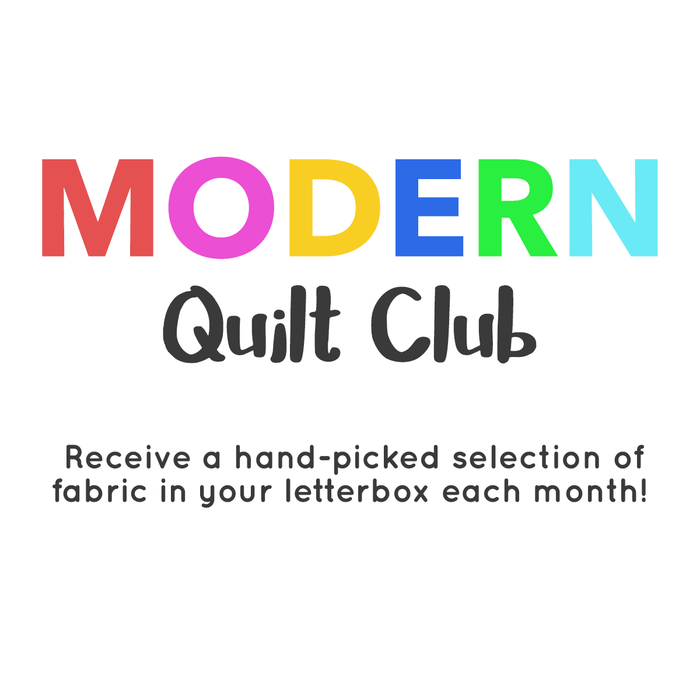 Introducing our Modern Quilt Club monthly fabric subscription!