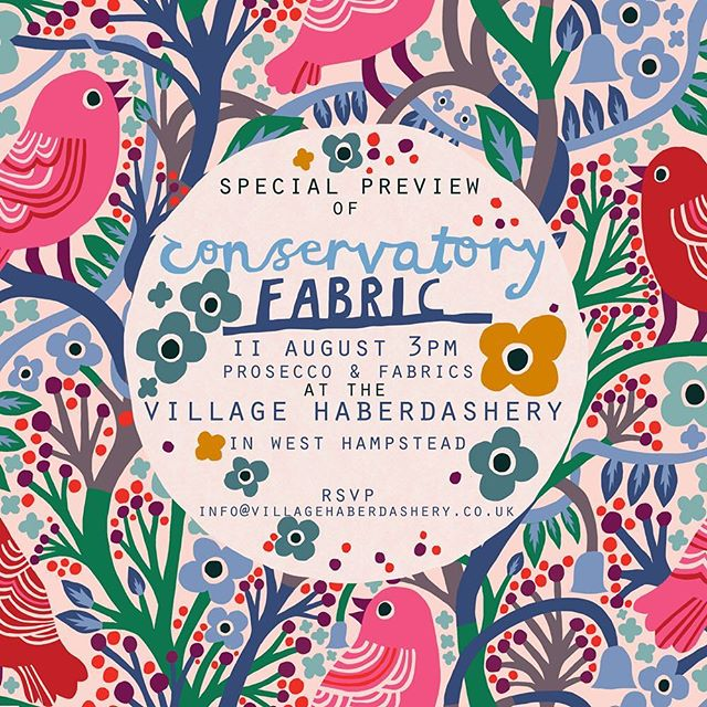 Join Anna Maria Horner and Monika Forsberg for a special Conservatory Fabric preview on 11 August!