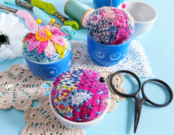 Slow Stitching Pincushion Class