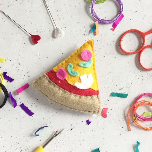 Pizza Felt Sewing Kit by The Make Arcade - The Village Haberdashery