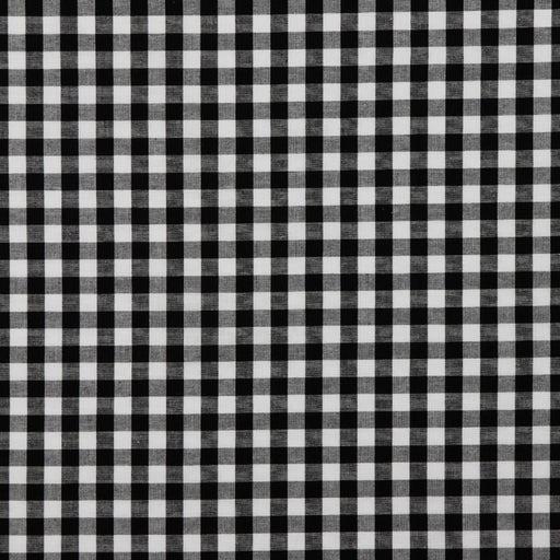 "3/8"" Black Woven Cotton Gingham - The Village Haberdashery"