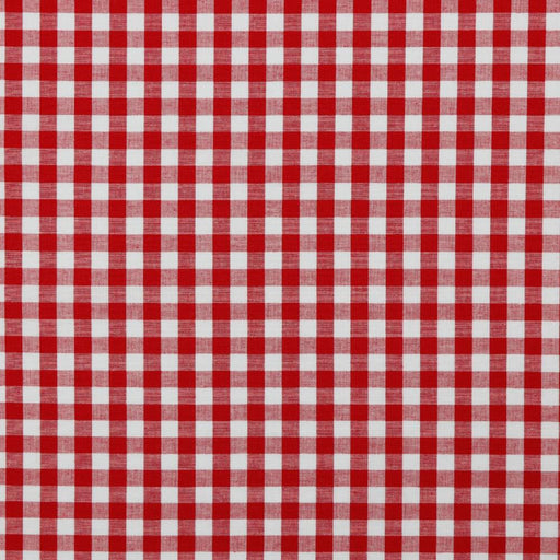"3/8"" Red Woven Cotton Gingham - The Village Haberdashery"