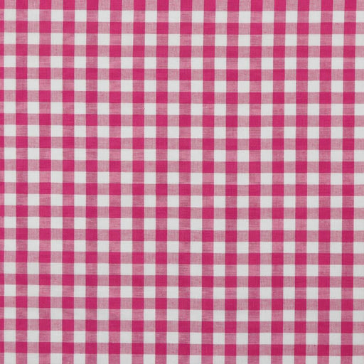 "3/8"" Fuchsia Woven Cotton Gingham - The Village Haberdashery"