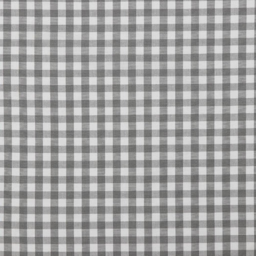 "3/8"" Grey Woven Cotton Gingham - The Village Haberdashery"