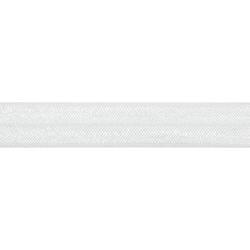 Fold Over Elastic - White, 16mm - The Village Haberdashery