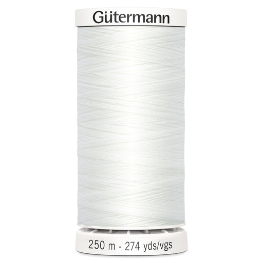 Gutermann Sew-All Polyester Thread - 250m - WHITE - The Village Haberdashery