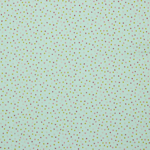Mint Sweet Dots Organic Double Gauze - The Village Haberdashery