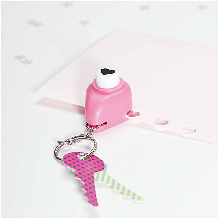 Paper Punch Keychain - Heart - The Village Haberdashery