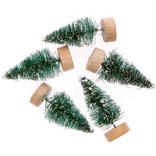 Green Bottle Brush Fir Trees - 5cm - The Village Haberdashery