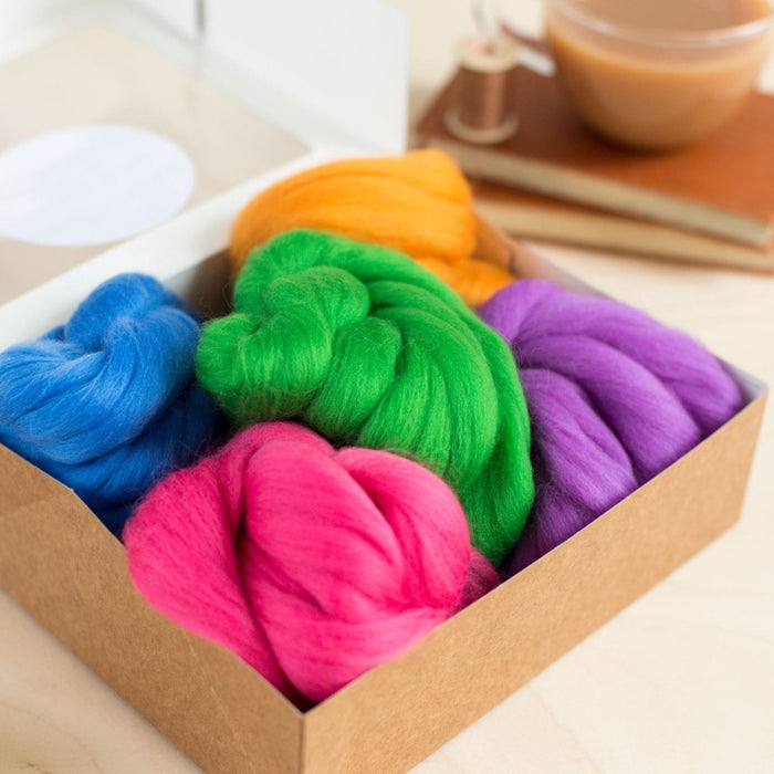 Felting & Spinning Wool - Meadow Merino Bundle - The Village Haberdashery