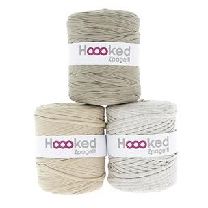 Hoooked Zpagetti T-Shirt Yarn - 120m Bobbins - Beige Shades - The Village Haberdashery
