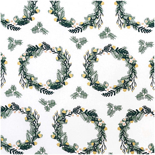 Small Wreaths Cotton from Classical Christmas - The Village Haberdashery