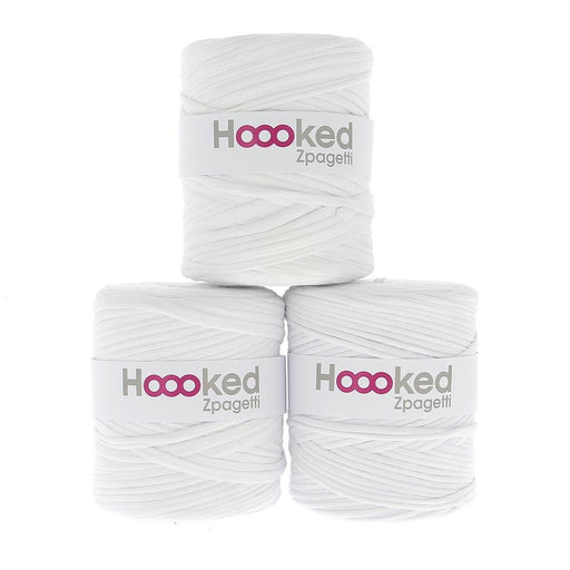 Hoooked Zpagetti T-Shirt Yarn - 120m Bobbins - White Shades - The Village Haberdashery