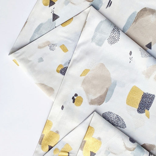 Vellum Metallic Pastel Parade Cotton from Girl's Club by Piet en Kees for Cotton + Steel - The Village Haberdashery