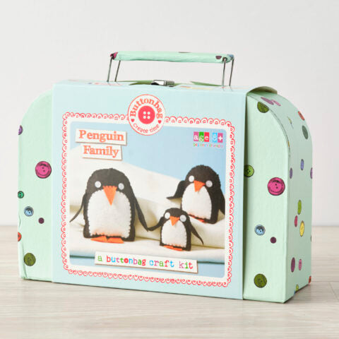 Buttonbag Penguin Family Sewing Kit - The Village Haberdashery