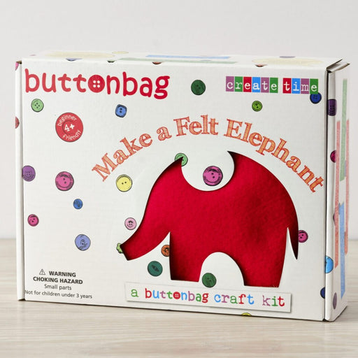Buttonbag First Sewing Kit: Elephant - The Village Haberdashery