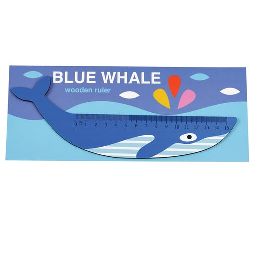 Blue Whale Wooden Ruler by Rex London - The Village Haberdashery