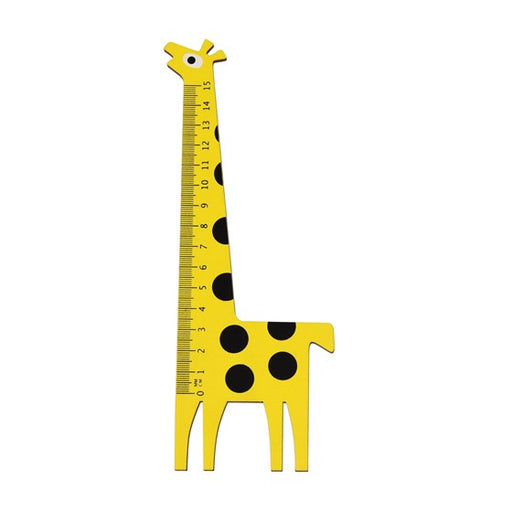 Giraffe Wooden Ruler by Rex London - The Village Haberdashery
