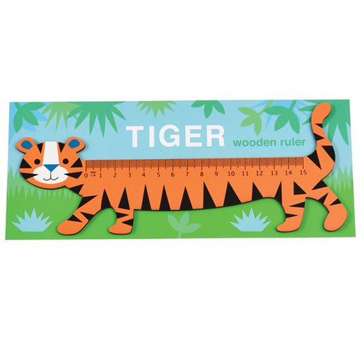 Tiger Wooden Ruler by Rex London - The Village Haberdashery