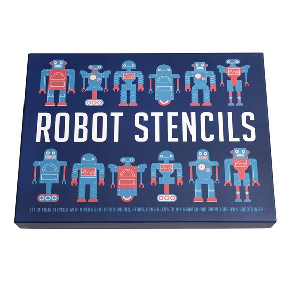 Robot Stencil Set by Rex London - The Village Haberdashery