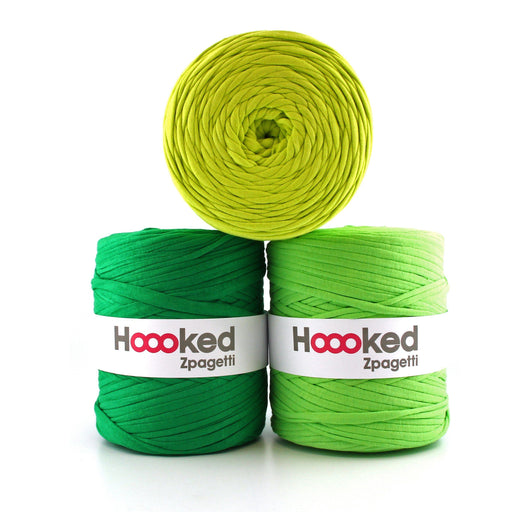 Hoooked Zpagetti T-Shirt Yarn - 120m Bobbins - Green Shades - The Village Haberdashery