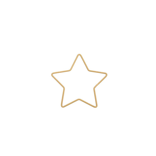 Gold Metal Star Decoration - 11cm x 10.8cm - The Village Haberdashery