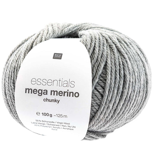 Rico Mega Merino - Light Grey - The Village Haberdashery